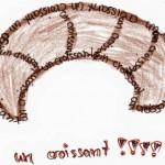 croissant calligramme